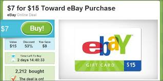 15 gift cards get a 15 ebay gift card for 7 on groupon