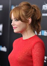 layer hair with ponytail at crown cuteness of the day emma stone s completely charming lil ponytail