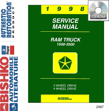 1998 dodge ram truck shop service repair manual cd u2022 41 98 picclick