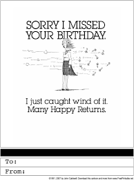 happy belated birthday printable greeting card