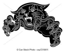 clipart of the black panther is hunting illustration csp7210611