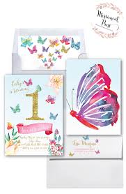 butterfly first birthday invitation butterflies gold glitter