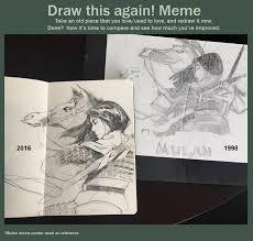Mulan Meme - draw this again mulan by merkymerx on deviantart