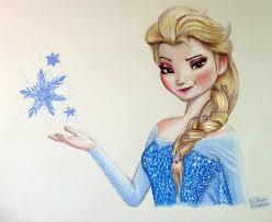 elsa drawing frozen fan art lethalchris deviantart