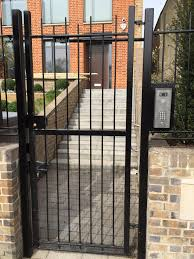 Front Door Security Gate by Not Only Has This Client Opted For A Simple And Stylish Gate At