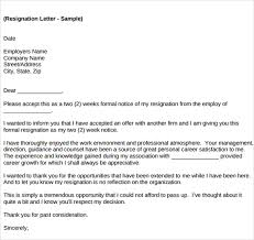 sle resignation letter template 14 free documents in word