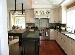 Kitchen Hood Island by White Kitchen Cabinets With Gray Walls Black Stained Wooden Island