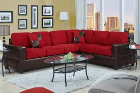 Oval Sofa Bed Red Cushioned Black Leather Sectional Sofa Oval Glass Coffee Table