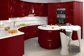 fabulous interior room design using contemporary styles good ultra modern interior kitchen design modern contemporary red white kitchen stylish round shape island with creative