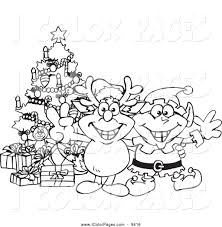 royalty free christmas stock coloring page designs