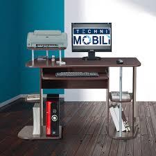 techni mobili multifunction computer desk chocolate walmart com