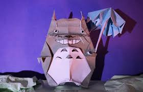 Based Off Of by Artist Creates Origami Street Art Based Off Of Classic Film Totoro