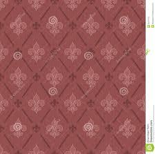 marsala color fleur de lis seamless background stock vector