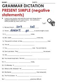 present tense worksheets grade 1