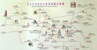 map of xi an xian map xian travel guide to hotels tourist attraction tour