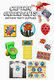party city sale after halloween captain underpants birthday party supplies parties pinterest