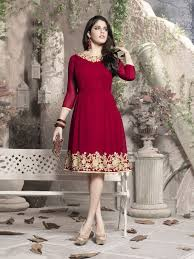 maroon red designer casual wear kurti nextdress the online shop