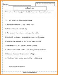 Free Adjective Worksheets 7 Adjective Worksheets 2nd Grade Lvn Resume