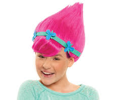 party city halloween costumes wigs amazon com just play trolls poppy wig toys u0026 games