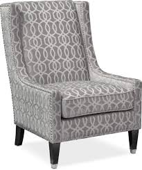 Grey And White Accent Chair Venn Accent Chair Gray Value City Furniture And Mattresses