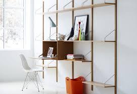 Desk Shelving Ideas Decorations Creative Compact Wall Mounted Wood Modular Shelving