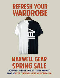 maxwell gear sale alumni blog