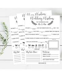 advice cards for the and groom deal alert mad libs wedding wisdom printable cards rustic
