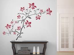 wandtatoo flur wandtattoo dekorativer blütenzweig mit blättern wandtattoo de