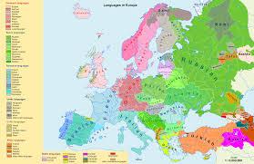 West Europe Map Europe Language Map Thefreebiedepot