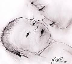 pictures mother child sketch pencil wallpaper drawing art gallery