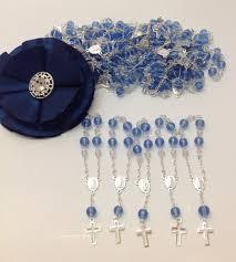 rosary favors for baptism 50 pcs blue communion favors recuerditos bautizo mini