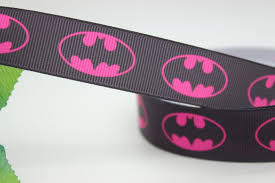 printed grosgrain ribbon new 7 8 free shipping batman printed grosgrain ribbon hairbow diy
