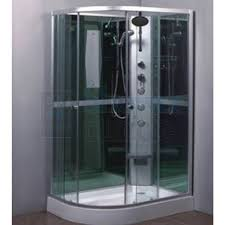 quad corner shower cabin with mixer jets walls and tray right hand