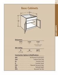 standard cabinet toe kick dimensions spec section base cabinets shenandoah cabinetry