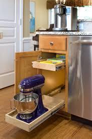 Kitchen Cabinet Sliding Organizers - maple wood cordovan shaker door sliding shelves for kitchen