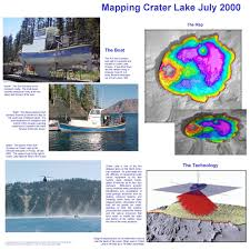 Crater Lake Oregon Map by Mapping Crater Lake July 2000