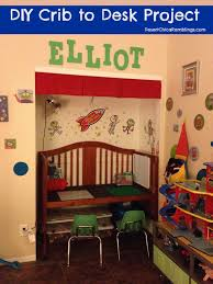 When Do You Convert A Crib To A Toddler Bed Convert A Crib Into A Desk
