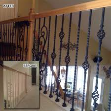 double basket baluster l wrought iron balusters l iron railings l