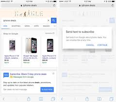 at t black friday google will send you text messages with black friday cyber monday