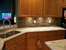 interior faux stone kitchen backsplash home installing faux stone