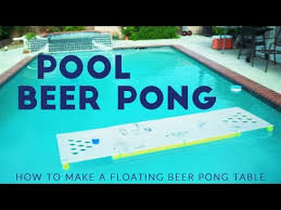 floating table for pool floating beer pong table diy pool pong tutorial youtube