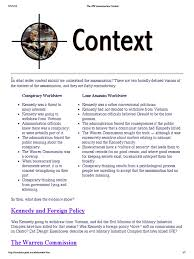 the jfk assassination context pdf john f kennedy conspiracy