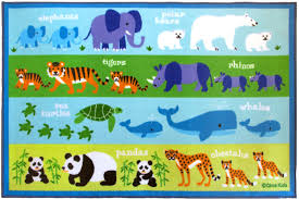 Colorful Kids Rugs by Olive Kids Endangered Animals 39x58 Rug 600416 U2013 Nurzery Com