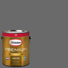 glidden premium 1 gal hdgcn64d grey tabby flat latex exterior