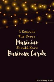 Business Card Music Why Every Musician Should Have Business Cards U2013 Mella Music