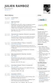 php developer resume template
