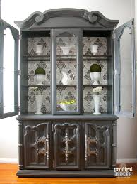 how much is my china cabinet worth china cabinet makeover with wallpaper prodigal pieces