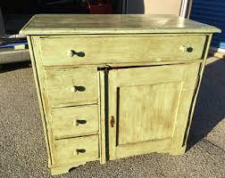 Vintage Kitchen Cabinet Etsy - Antique kitchen cabinet