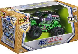 how long is a monster truck show amazon com new bright f f monster jam grave digger rc car 1 24