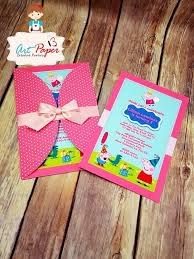 best 25 peppa pig birthday invitations ideas on peppa